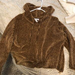 Fuzzy Golden Sweatshirt